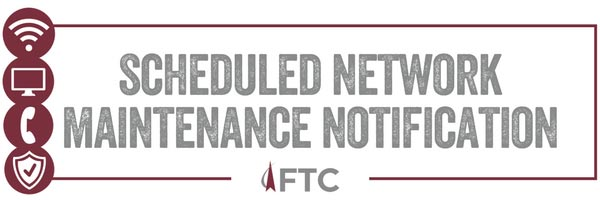 Scheduled Network Maintenance Notification